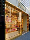 Furla fashion brand window on fifth avenue manhattan. New York City, Usa - Apr 2018: Furla fashion brand window on fifth avenue manhattan Royalty Free Stock Image