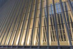 New York City / USA - AUG 22 2018: World Trade Center Transportation Hub`s Oculus exterior detail at sunset royalty free stock photography