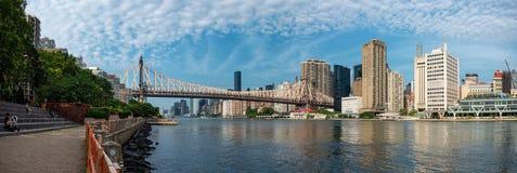 Queensboro Bridge and Manhattan city, New York royalty free stock photo