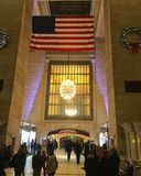 New York City, USA - December 2017: Christmas decoration in Grand Central Station in Manhattan stock photography