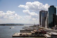 New York City USA horisontHudson River Coast linje Royaltyfri Foto