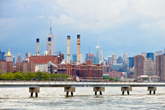 New York City USA, industrial factory plant in the city Royalty Free Stock Photos