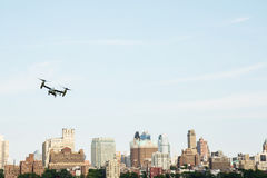 NEW YORK CITY, USA-July 5, 2015: MV-22 Osprey. Marine Helicopter Royalty Free Stock Images