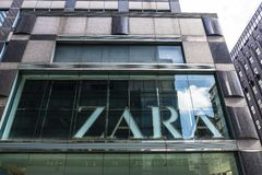 Zara store in New York City, USA stock images