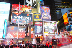 Time Square at night Royalty Free Stock Photos