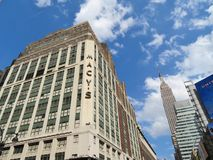 New York City, USA, June 19, 2017 - Macy`s Department Store and The Empirte State Building in the background -  editorial use onl Royalty Free Stock Photo