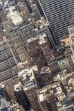 New York City, Midtown Manhattan building rooftops. USA. Stock Images