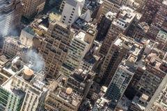 New York City, Midtown Manhattan building rooftops. USA. Stock Photo