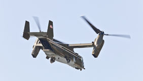 New York City, USA- MV-22 Osprey. New York City, USA-October 5, 2014: MV-22 Osprey. Marine Helicopter Squadron One (HMX-1), is a squadron responsible for the royalty free stock photo