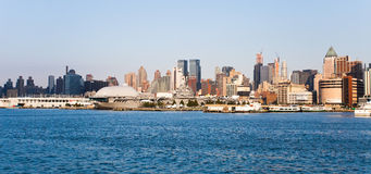NEW YORK CITY, USA - New York Uptown and Intrepid Royalty Free Stock Photo