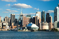 NEW YORK CITY, USA - New York Uptown and Ship Intrepid Royalty Free Stock Photo