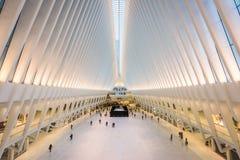 World Trade Center Mall. NEW YORK CITY, USA - OCTOBER 23, 2016: The Westfield World Trade Center Mall and transportation center in Lower Manhattan Stock Photos