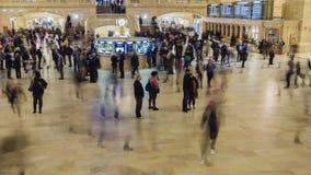 New York City USA - OKTOBER 26, 2016: Rörelsepannatimelapse: Grand Central station i New York City tidschackningsperiod med arkivfilmer