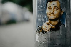 Inspiration concept with Bill Murray royalty free stock images
