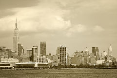 New York City, USA panorama of downtown landmark buildings Royalty Free Stock Photography