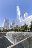 NEW YORK CITY, USA - SEPT. 27: NYC's September 11 Memorial  seen Royalty Free Stock Images