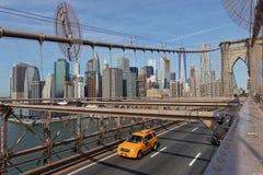 NEW YORK CITY, USA, am 11. September 2017: Brooklyn-Brücke Das Br Lizenzfreies Stockbild