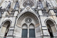 Cathedral of St John the Divine. NEW YORK CITY, USA, September 13, 2017 : Cathedral of St John the Divine. The cathedral of the Episcopal Diocese of New York has Royalty Free Stock Photo