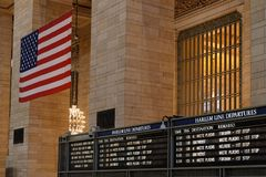 Grand Central Terminal Main Hall. NEW YORK CITY, USA, September 10, 2017 : Grand Central Terminal also referred to simply as Grand Central or incorrectly as Royalty Free Stock Image