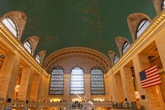 Grand Central Terminal Main Hall general view. NEW YORK CITY, USA, September 10, 2017 : Grand Central Terminal also referred to simply as Grand Central or Stock Photos