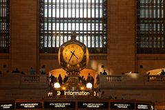 Grand Central Terminal Clock. NEW YORK CITY, USA, September 10, 2017 : Grand Central Terminal also referred to simply as Grand Central or incorrectly as Grand Royalty Free Stock Images