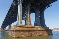 The Manhattan Bridge over East River. NEW YORK CITY, USA, September 11, 2017 : The Manhattan Bridge.  Connecting Manhattan and Brooklyn, Manhattan Bridge is one Stock Photos