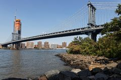 The Manhattan Bridge Royalty Free Stock Images
