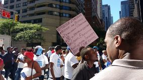 Cameroon, Southern Cameroons/Ambazonia Protesters, NYC, NY, USA. New York City, USA, September 22nd 2017: Near the United Nations Headquarters, at the corner of Stock Photo