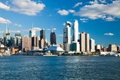 NEW YORK CITY, USA - SEPTEMBER 24: New York Uptown and Intrepid Royalty Free Stock Image