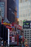 Times Square advertising panels. NEW YORK CITY, USA, September 10, 2017 :  Times Square is a major commercial intersection, tourist destination, entertainment Stock Image