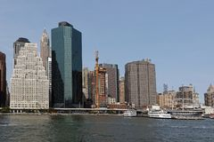View of Manhattan skyline Royalty Free Stock Photography