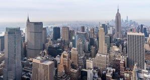 New York City USA: Sikt av Manhattan Fotografering för Bildbyråer