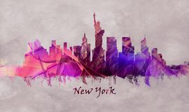 New York City in USA, skyline stock images