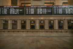 New York City, USA - 2013: Tickets office in Grand Central terminal station. royalty free stock photo