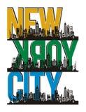 New York City, vecteur Illustration Libre de Droits