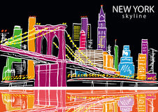 New York city. Vector illustration Royalty Free Stock Images