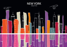 New York city. Vector illustration Stock Images