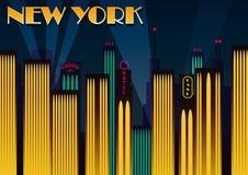 New York city. Vector illustration Royalty Free Stock Photos