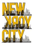 New York City, Vector image. New York City, T shirt Graphic, Vector image Stock Images