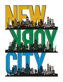 New York City, Vector. New York City, T shirt Graphic, Vector Image Royalty Free Stock Image