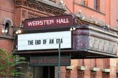 NEW YORK CITY - VERS 2017 : Webster Hall affiche un message sur t Photographie stock libre de droits