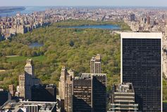 New York city view from above. New York city with Central Park, seen from the Top of the Rock viewing platform Stock Photos