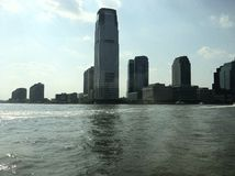 New York City View From Boat Royalty Free Stock Photos