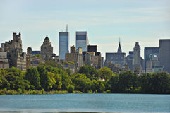 New York City View From Central Park Stock Images