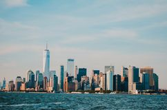 New York city view, commercial place royalty free stock photos