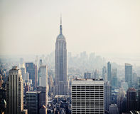 New York City view with Empire State building Stock Images