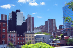 New York city view from High Line park Stock Photography