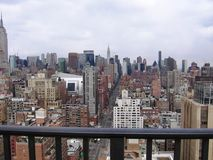 New York City view from the hotel balcony Royalty Free Stock Images