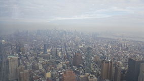 New York City. View from the one world Trade Center of New York Stock Photo