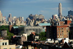 New York City: View of Upper Manhattan Royalty Free Stock Photo